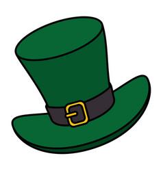 Irish elf hat isolated icon vector