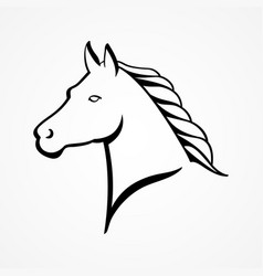 Line art of a horse head vector
