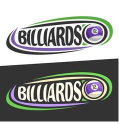 logos for billiards game vector image vector image