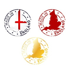 Made in england stamp vector