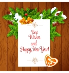 New year best wishes poster vector
