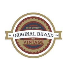old style original brand element vector image vector image