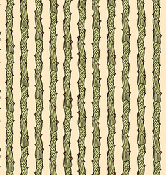 Pattern of doodles branches vector