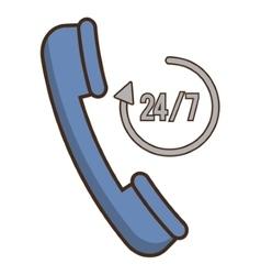 Phone of hotel service design vector