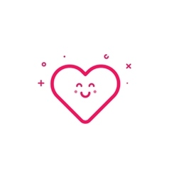 pink icon in flat line vector image