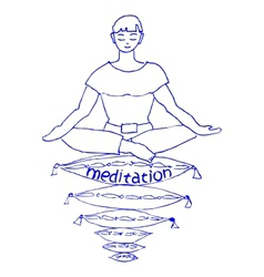 pleasant meditation vector image