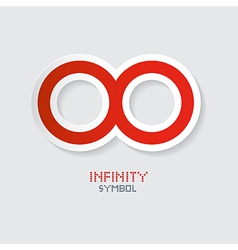 Red Paper Infinity Symbol vector image vector image