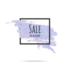 Sale glitter background frame vector image
