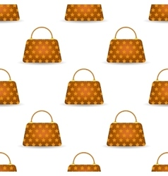 Seamless womens orange handbags vector