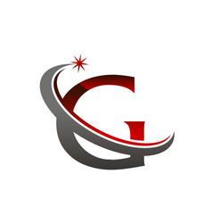 Star swoosh letter g vector