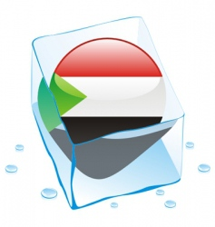 Sudan flag vector image vector image