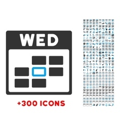 Wednesday Flat Icon vector image
