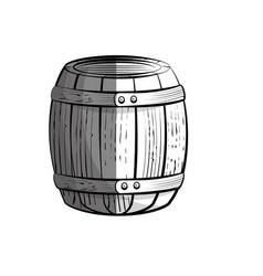 Wine wooden barrel vector