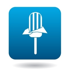 Ice lolly icon simple style vector