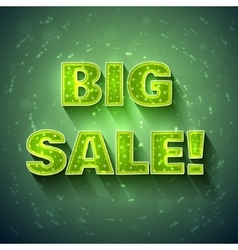 Big sale green banner vector
