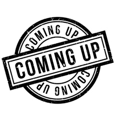 Coming Up rubber stamp vector image