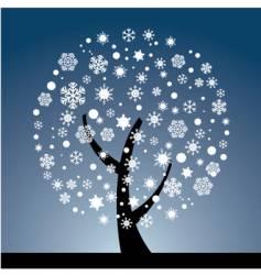 snow tree vector image