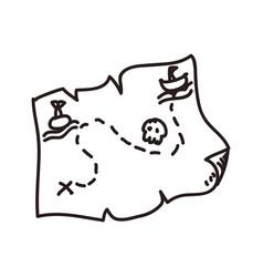map treasure doodle vector image