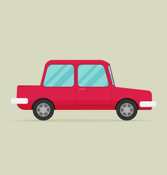 Old car flat styled vector