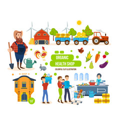 Agricultural products livestock purchase vector