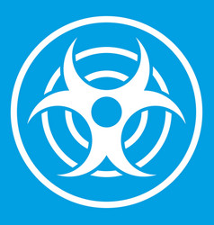 Sign of biological threat icon white vector