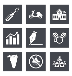 Icons for web design set 12 vector
