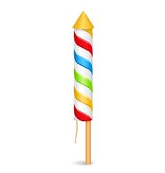 Firework Rocket vector image