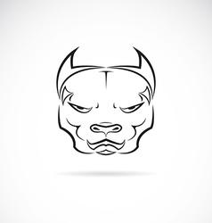 image of a dog pitbull head vector image