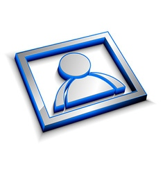 3d glossy user icon vector image vector image