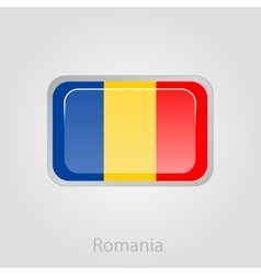 Romanian flag button vector