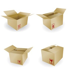 Shipping box and box icon and signs vector