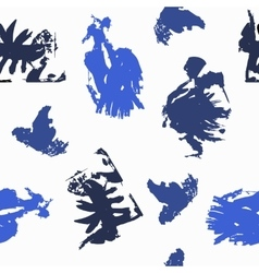 Blots in blue shades on white background vector