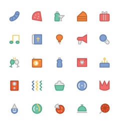 Celebration and party icons 7 vector