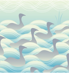 Ducks on water vector image