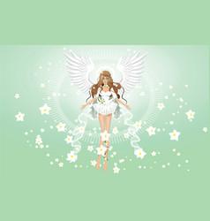 Angel of spring wallpaper vector