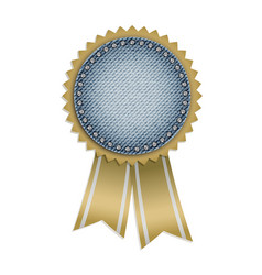 award jeans sticker vector image