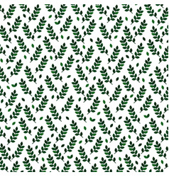background with green branches vector image vector image
