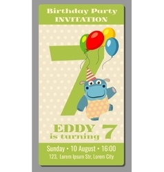 Birthday anniversary party invitation pass ticket vector image vector image