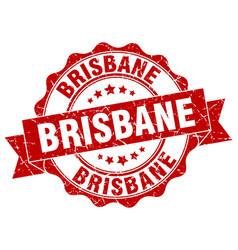 Brisbane round ribbon seal vector
