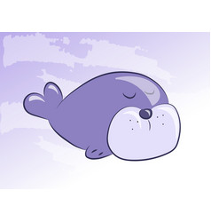 Cartoon seal icon vector