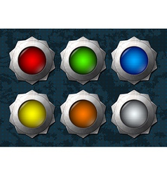 Colorful star buttons vector image
