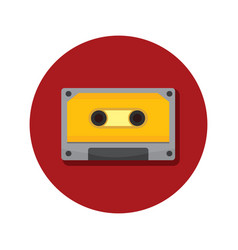 Compact cassette classic icon graphic vector