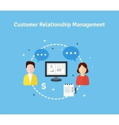 Customer relationship management flat vector