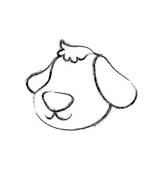 dog cartoon drawing head faceless vector image vector image
