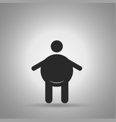 Fat person icon man with big stomach vector