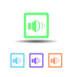 four sound icon button on white background vector image vector image