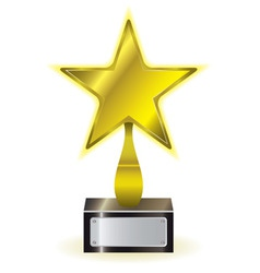 golden star award vector image