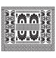Greek pattern ancient hellenic decor vector