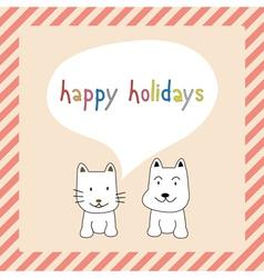 Happy holidays25 vector