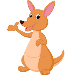kangaroo cartoon presenting vector image